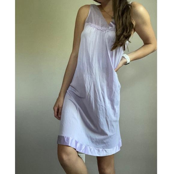 Vintage Satin Lavender Nightgown